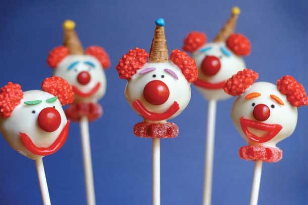 Clown Cake Pops Bakerella