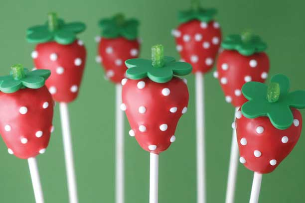 Red Cake Pop Sticks